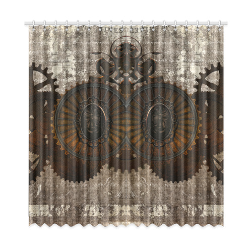 A Rusty Steampunk Letter With Gears Window Curtain 52 X108 Two Piece Id D1279887