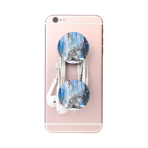 Awesome tiger with fantasy girl Air Smart Phone Holder