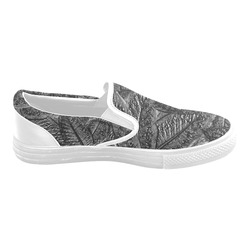 Steel Foliage - Jera Nour Men's Slip-on Canvas Shoes (Model 019)