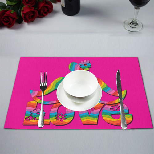 Love Birds with a Heart Placemat 12''x18''