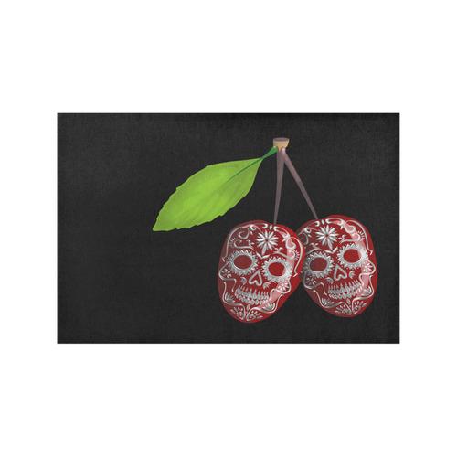 Cherry Sugar Skull Placemat 12''x18''