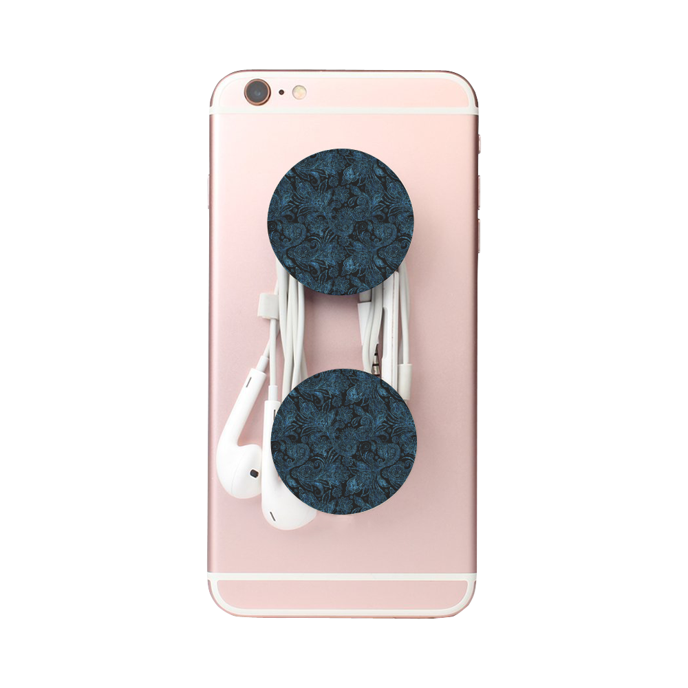 Elegant blue flower glitter look Air Smart Phone Holder