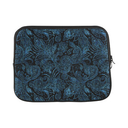"""Elegant blue flower glitter look Custom Laptop Sleeve 13"""""""