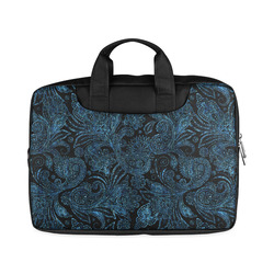 "Elegant blue flower glitter look Macbook Air 11""(Twin sides)"