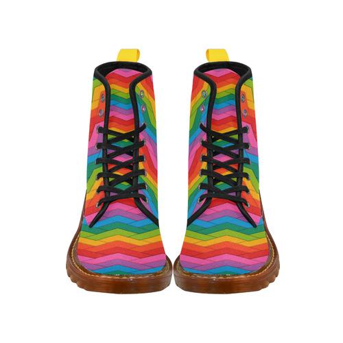 Woven Rainbow Martin Boots For Women Model 1203H