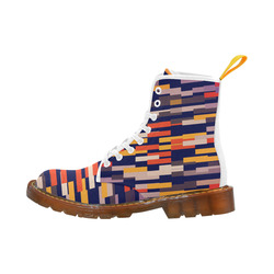 Rectangles in retro colors Martin Boots For Women Model 1203H