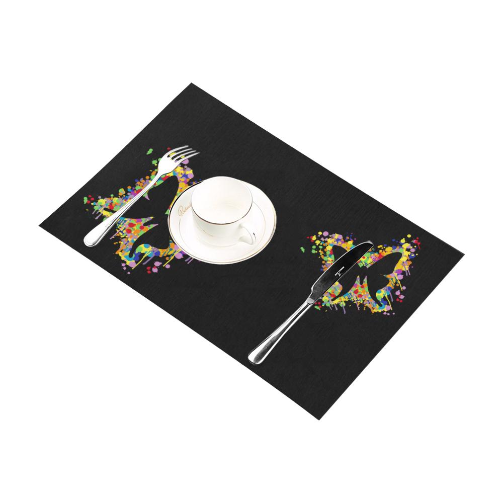 Dancing Butterfly Splash Placemat 12''x18''