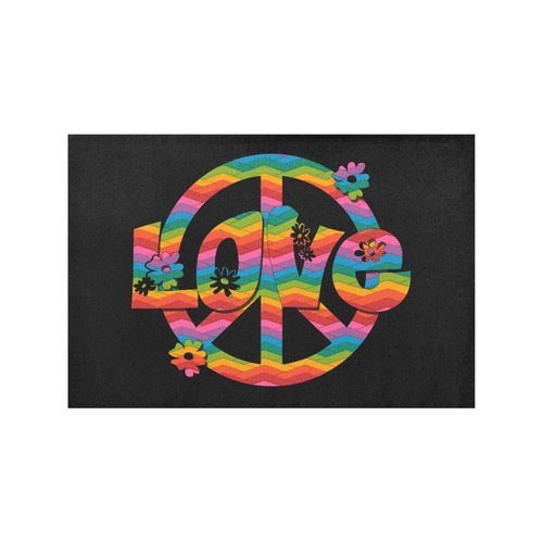 Colorful Love and Peace Placemat 12''x18''