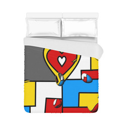 """Right in the heart by Nico Bielow Duvet Cover 86""""x70"""" ( All-over-print)"""