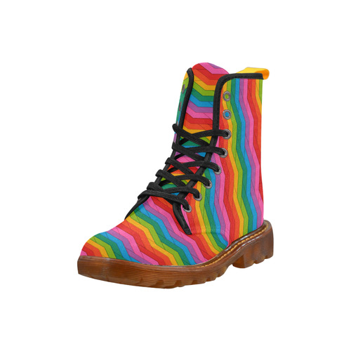 Woven Rainbow Martin Boots For Men Model 1203H
