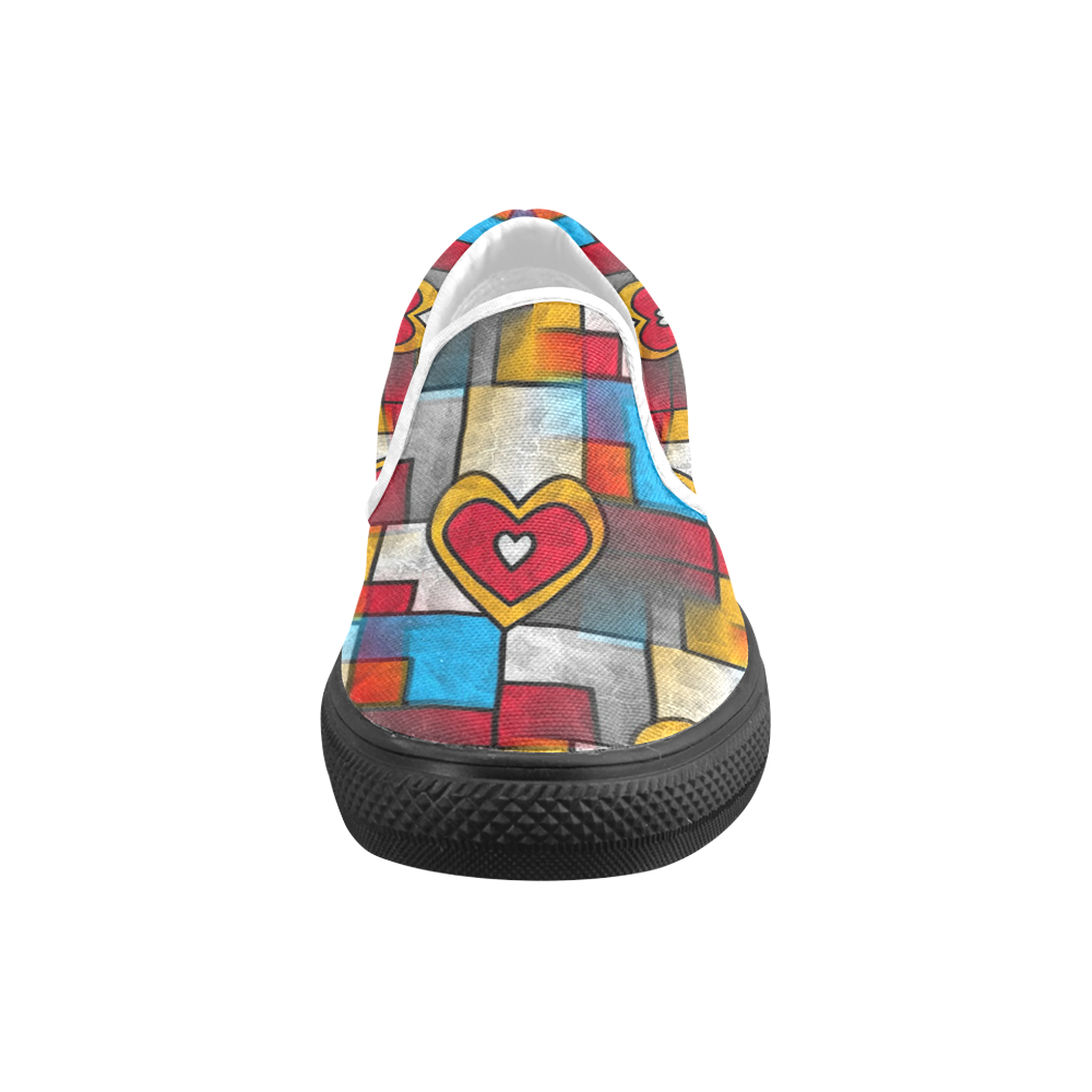 That is my heart by Popart Lover Women's Unusual Slip-on Canvas Shoes (Model 019)