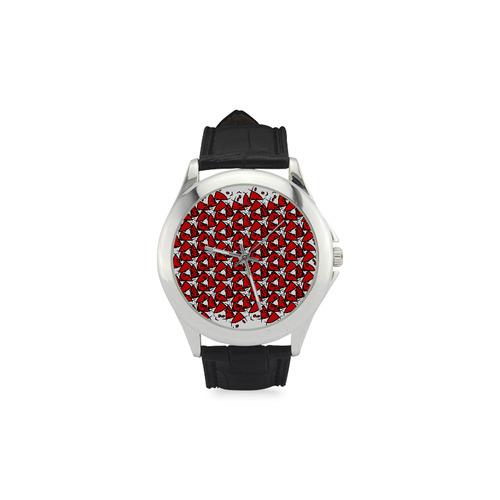 Symbol Women's Classic Leather Strap Watch(Model 203)