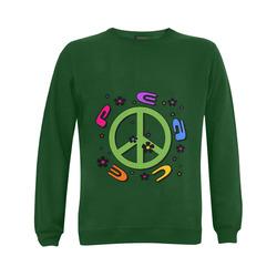 peace  3d color Gildan Crewneck Sweatshirt(NEW) (Model H01)
