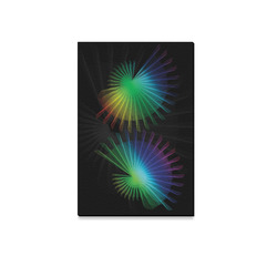"Rainbow Fan Canvas Print 12""x18"""