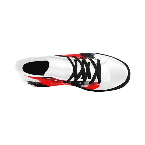 Ink Splatter Aquila High Top Microfiber Leather Women's Shoes (Model 032)