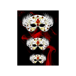 """;asks red, carnival Poster 18""""x24"""""""