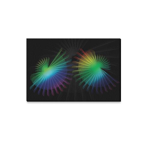 "Rainbow Fan Canvas Print 12""x18"""