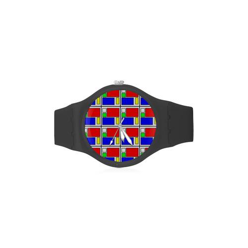 VISION Unisex Round Rubber Sport Watch(Model 314)