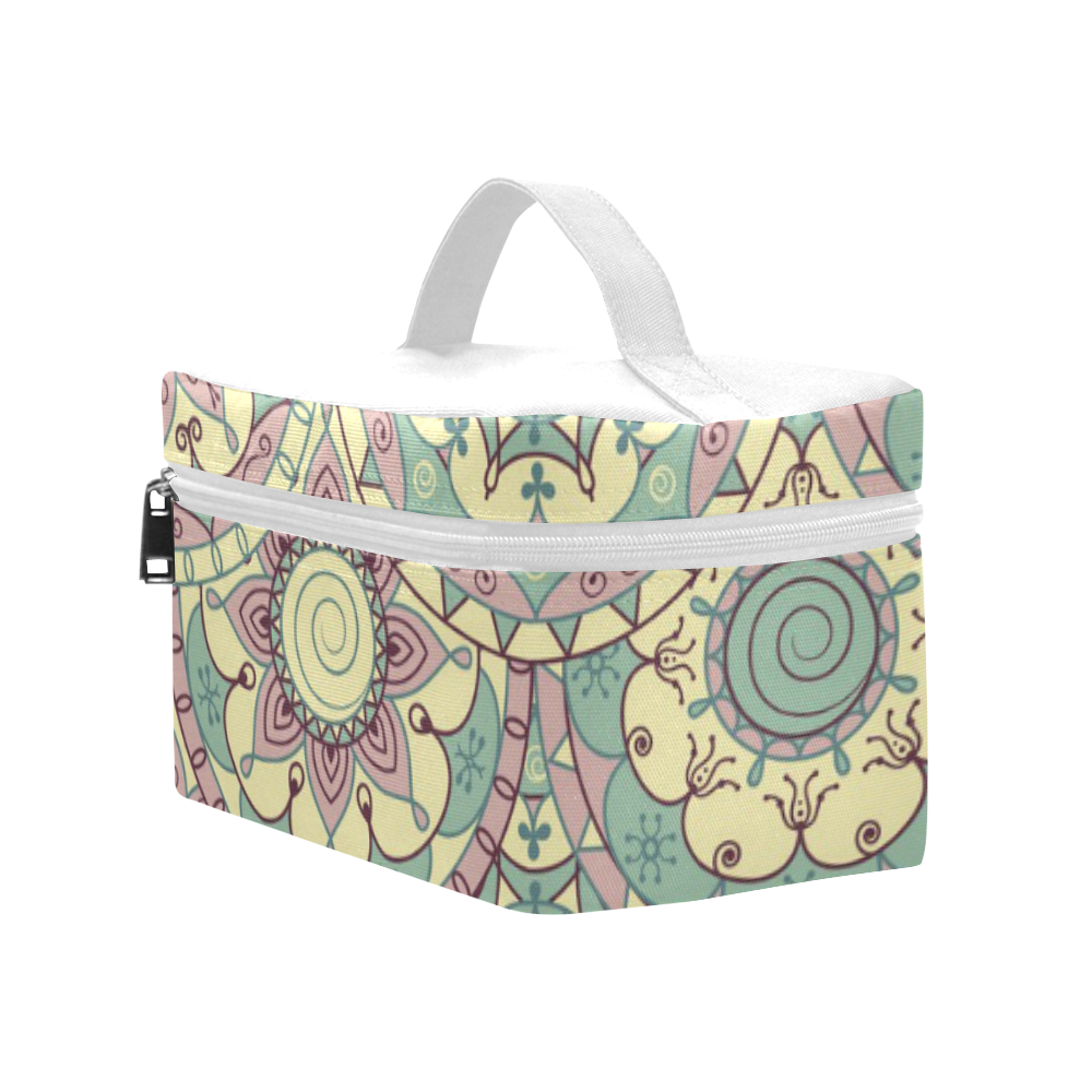 Retro Abstract Floral 2 Lunch Bag/Large (Model 1658)