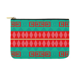 Rhombus stripes and other shapes Carry-All Pouch 12.5''x8.5''