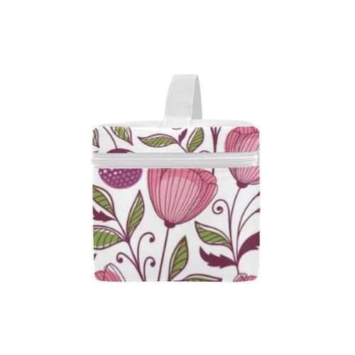 Pink Flowers Lunch Bag/Large (Model 1658)
