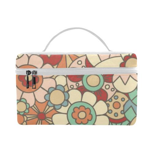 Vintage Floral - Light Teal Background Lunch Bag/Large (Model 1658)