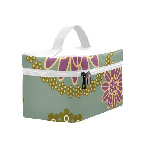 Retro Floral Lunch Bag/Large (Model 1658)