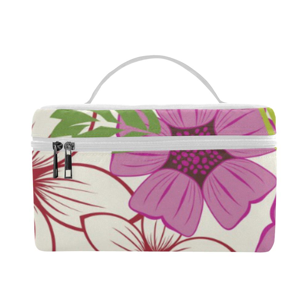 Retro Vintage Floral Lunch Bag/Large (Model 1658)