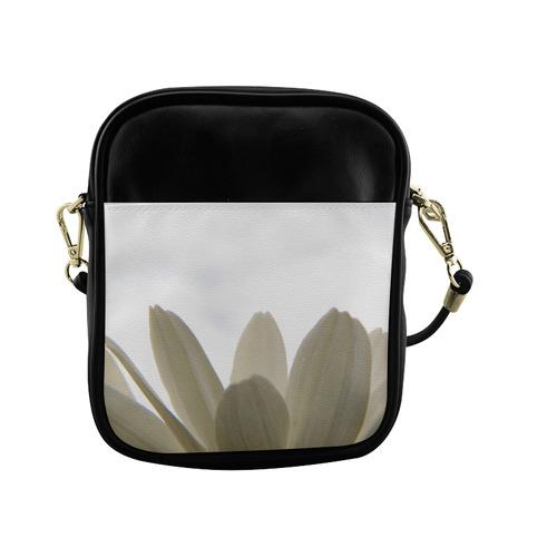 White Daisy Fringe Sling Bag (Model 1627)