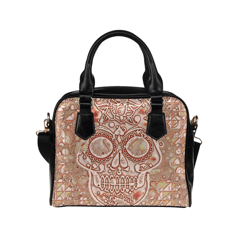 color skull 7 by JamColors Shoulder Handbag (Model 1634)