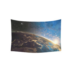 """Planet Earth From Space Cotton Linen Wall Tapestry 60""""x 40"""""""