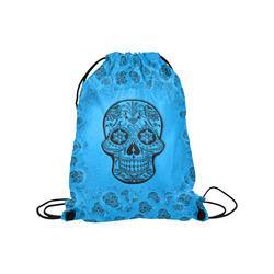 "Skull20170259_by_JAMColors Medium Drawstring Bag Model 1604 (Twin Sides) 13.8""(W) * 18.1""(H)"