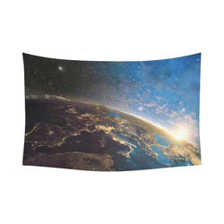 "Planet Earth From Space Cotton Linen Wall Tapestry 90""x 60"""