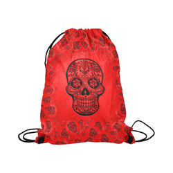 "Skull20170248_by_JAMColors Large Drawstring Bag Model 1604 (Twin Sides)  16.5""(W) * 19.3""(H)"