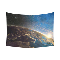 "Planet Earth From Space Cotton Linen Wall Tapestry 80""x 60"""