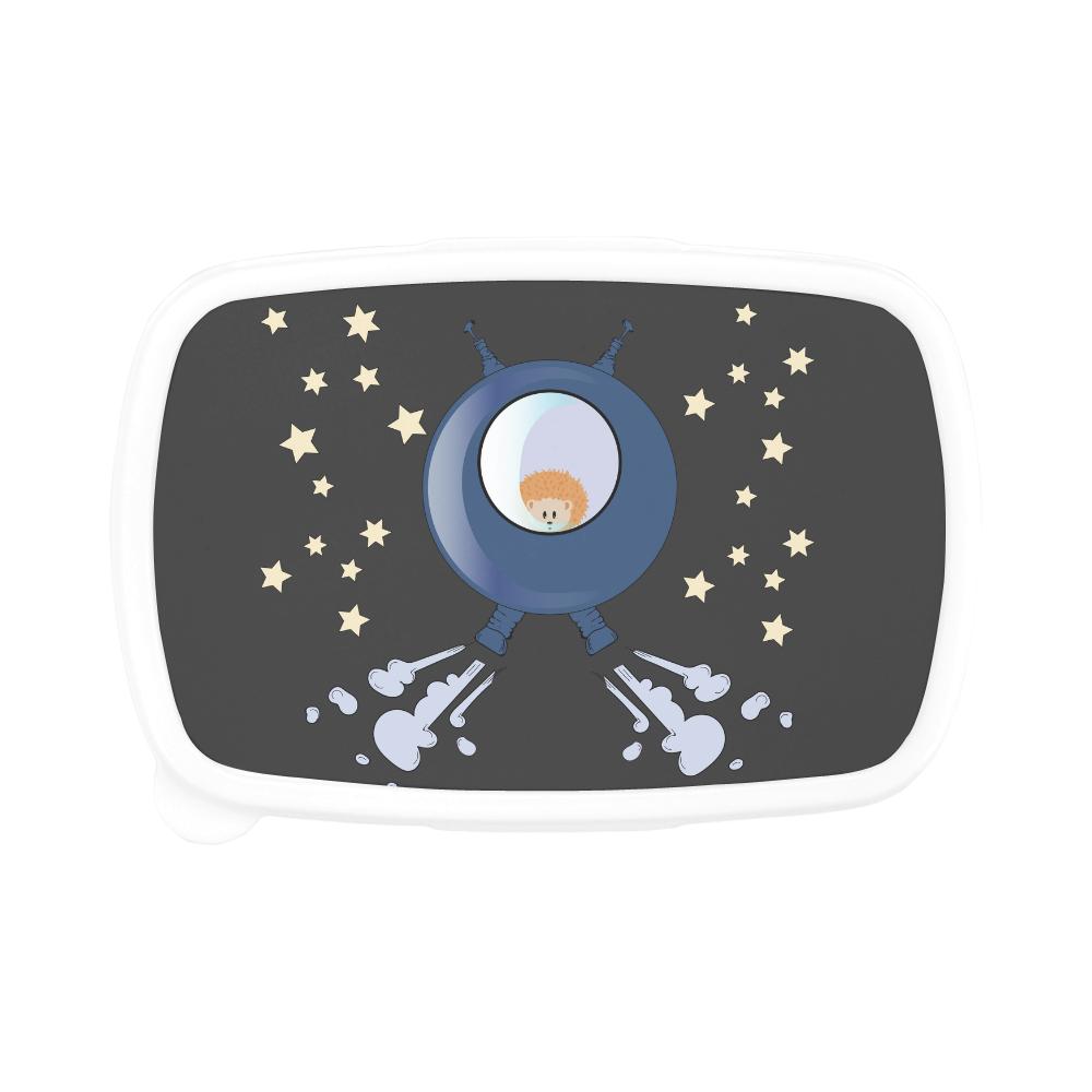 Hedgehog in space. spacecraft. Children's Lunch Box