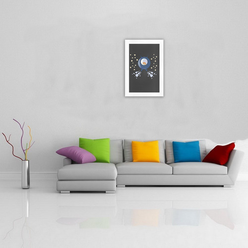 Hedgehog in space. spacecraft. Art Print 19''x28''