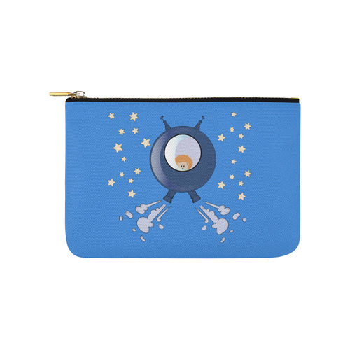 Hedgehog in space. spacecraft. Carry-All Pouch 9.5''x6''