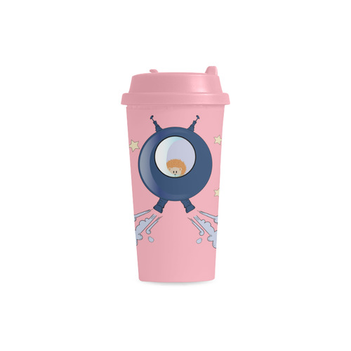 Hedgehog in space. spacecraft. Double Wall Plastic Mug