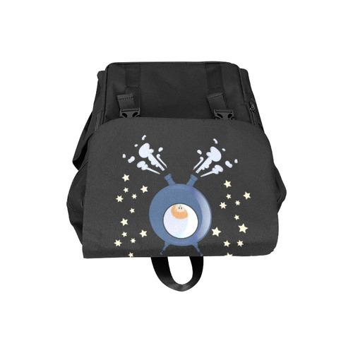 Hedgehog in space. spacecraft. Casual Shoulders Backpack (Model 1623)