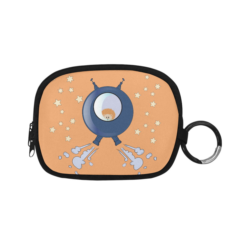 Hedgehog in space. spacecraft. Coin Purse (Model 1605)
