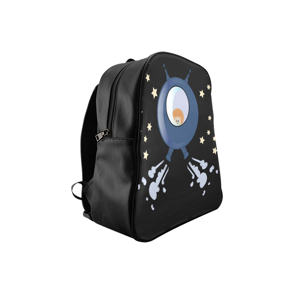Hedgehog in space. spacecraft. School Backpack (Model 1601)(Small)