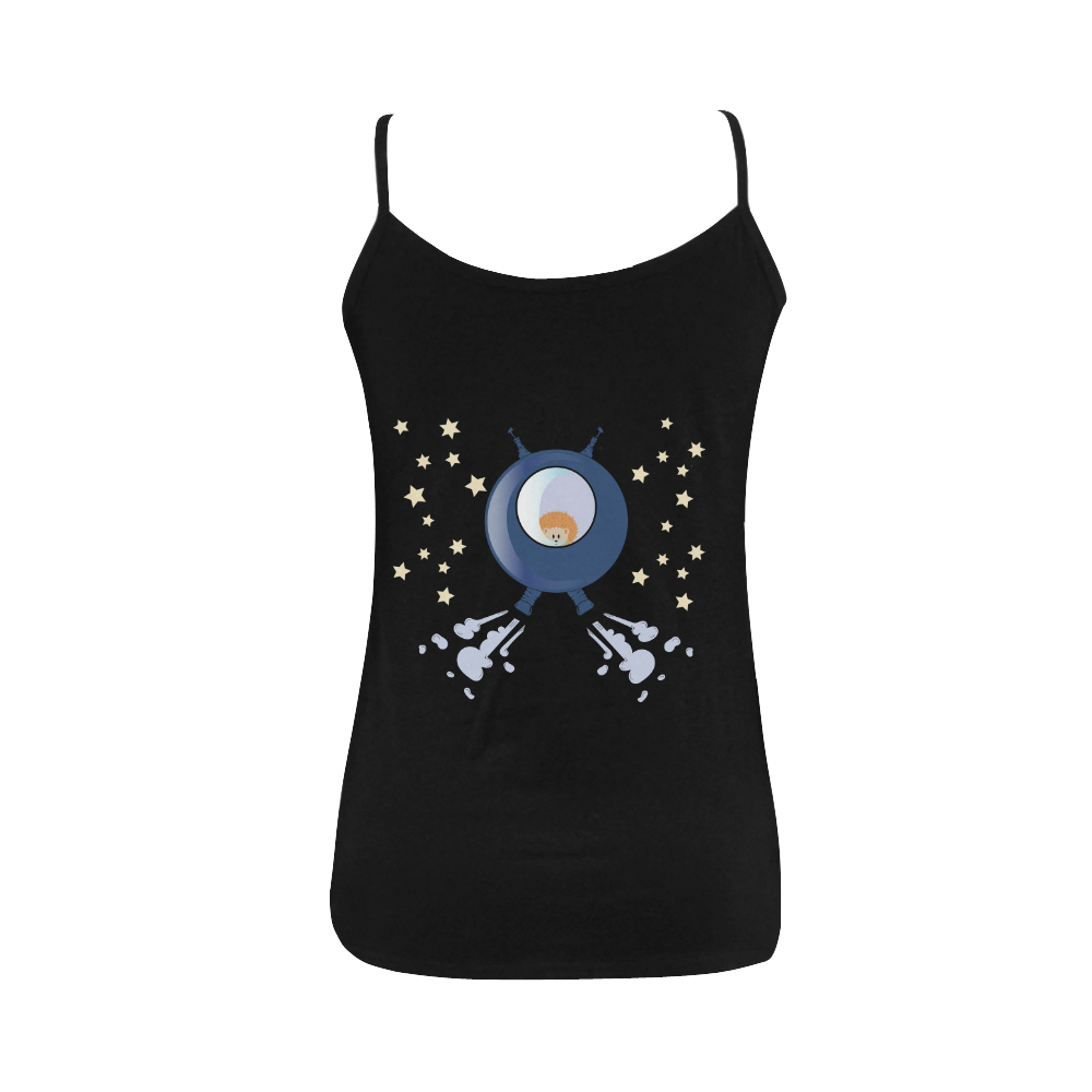 Hedgehog in space. spacecraft. Women's Spaghetti Top (USA Size) (Model T34)
