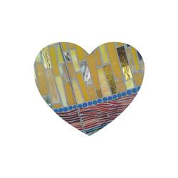 mosaic yellow Heart-shaped Mousepad
