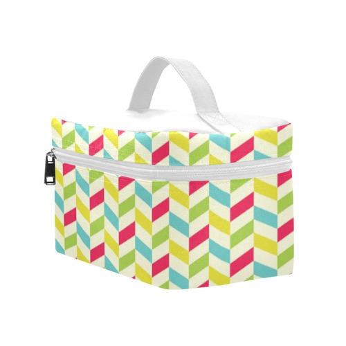 Colorful Herringbone Lunch Bag/Large (Model 1658)