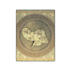 "Mandala of cute elephant Blanket 50""x60"""