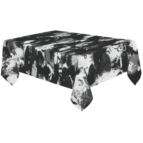 """Shades of Gray and Black oils #1979 Cotton Linen Tablecloth 60""""x120"""""""