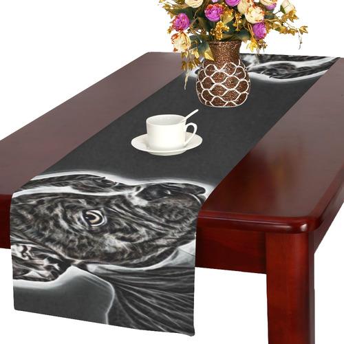 Lovely Buddy Black and White Table Runner 16x72 inch