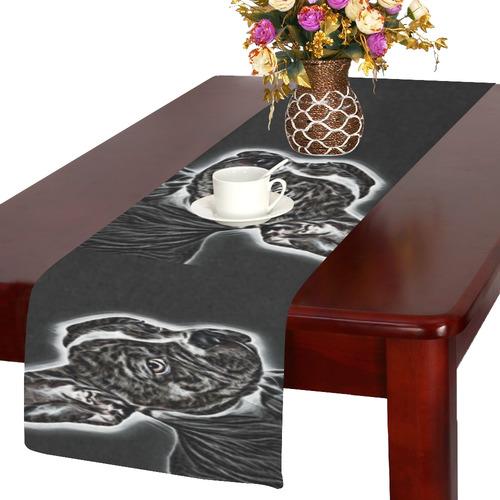 Lovely Buddy Black and White Table Runner 14x72 inch