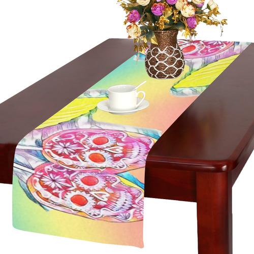 PopArt Cherry Skull Table Runner 14x72 inch